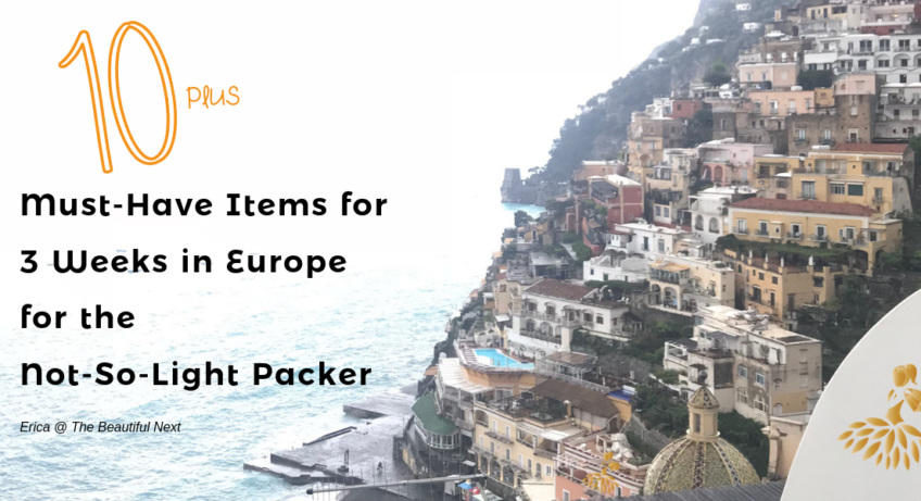 packing items for trip to Europe Italy France Spain