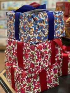 Trader Joe's Panettone Italian Cake festively wrapped