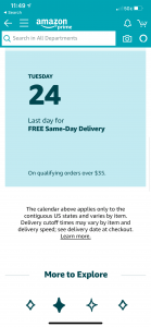 same day delivery items for dec 24