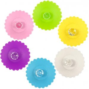 Silicone Cup Lids in 6 colors