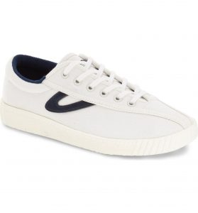 Tretorn Nylite Comfort Sneaker White with Blue Logo
