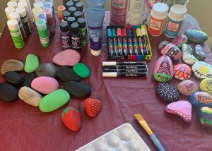 Rock Painting Station Rocks Markers Paints