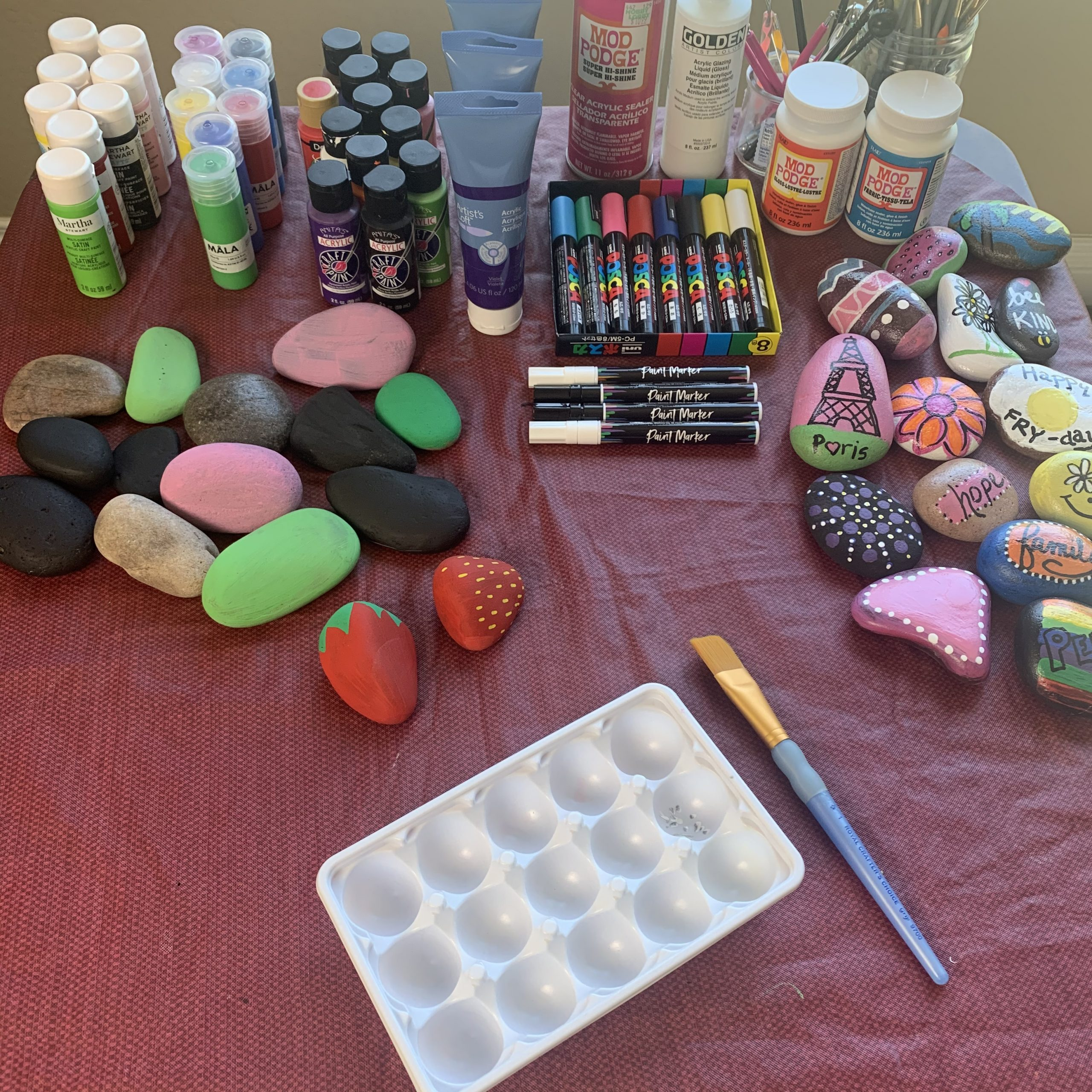 Rock Painting Space Paints Rocks Brushes Tools