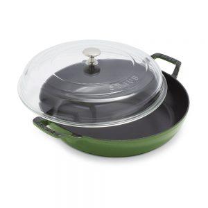 green staub pan with lid Sur la table