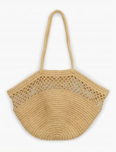 Tan Raffia Big Bag