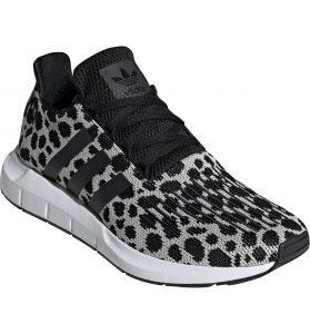Adidas Swift Runners Black Grey Leopard