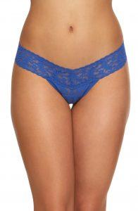 Blue Lace Thong Underwear Hanky Panky
