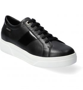 Mephisto Fay Black Leather Comfort Sneaker