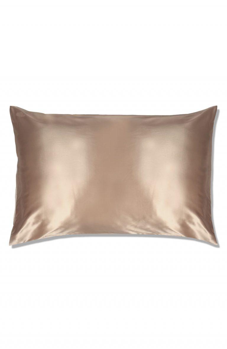 Slip Silk Pillow Case in Caramel Color