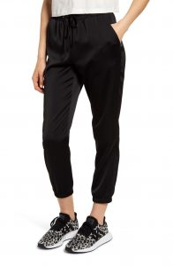 Socialite Stretch Satin Jogger Pants