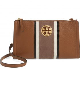 Tory Burch Carson Stripe Leather Crossbody Bag